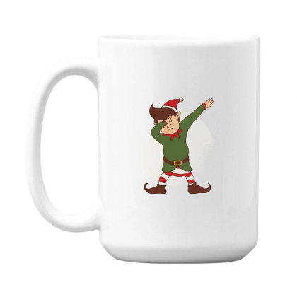 Elf Dabbing Christmas 15 Oz Coffe Mug Designed By Dirjaart