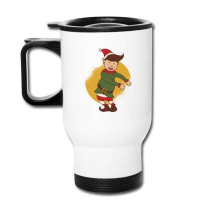 Elf Floss Dance Christmas Travel Mug Designed By Dirjaart