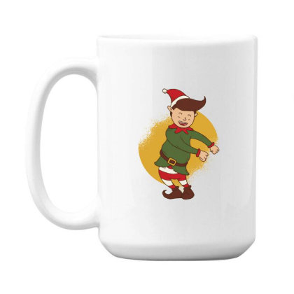 Elf Floss Dance Christmas 15 Oz Coffe Mug Designed By Dirjaart
