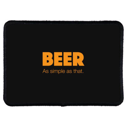 Beer As Simple As That Rectangle Patch Designed By H3lm1
