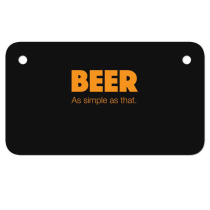 Beer As Simple As That Motorcycle License Plate Designed By H3lm1