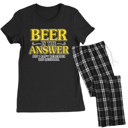 Beer Is The Answer Women's Pajamas Set Designed By H3lm1