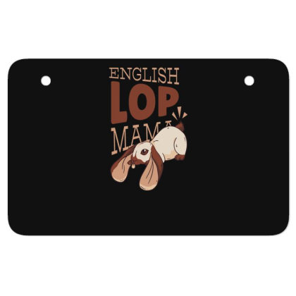 English Lop Mama Atv License Plate Designed By Dirjaart