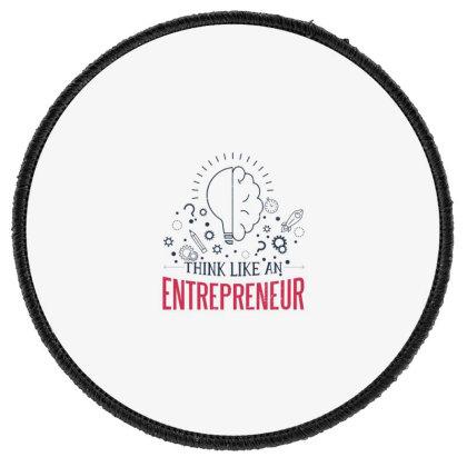 Entrepreneur Round Patch Designed By Dirjaart