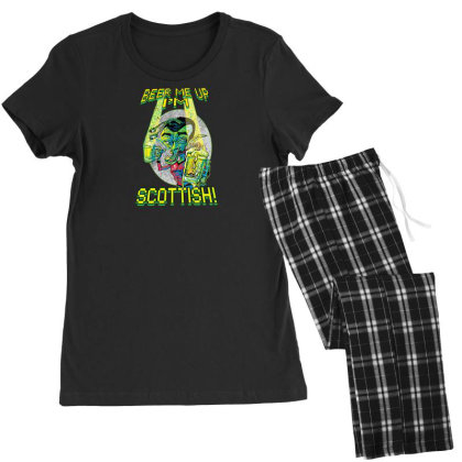 Beer Me Up I'm Scottish Not Irish Women's Pajamas Set Designed By H3lm1
