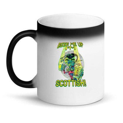 Beer Me Up I'm Scottish Not Irish Magic Mug Designed By H3lm1