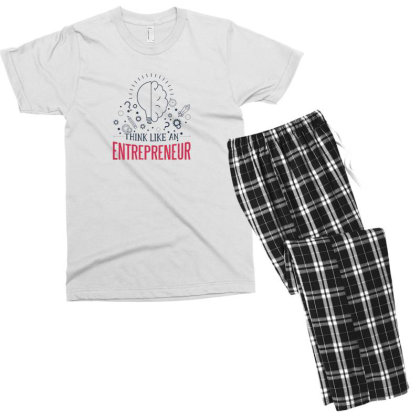Entrepreneur Men's T-shirt Pajama Set Designed By Dirjaart