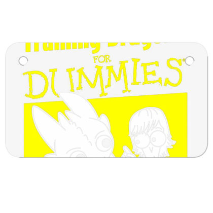 Training Dragons For Dummies Motorcycle License Plate Designed By Katoni