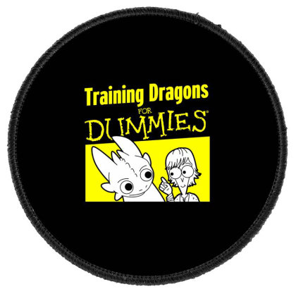 Training Dragons For Dummies Round Patch Designed By Katoni