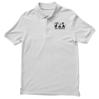 Ew, People Cats Men's Polo Shirt Designed By Dirjaart