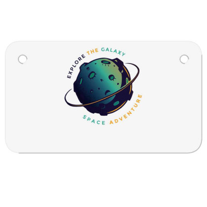 Explore The Galaxy Motorcycle License Plate Designed By Dirjaart