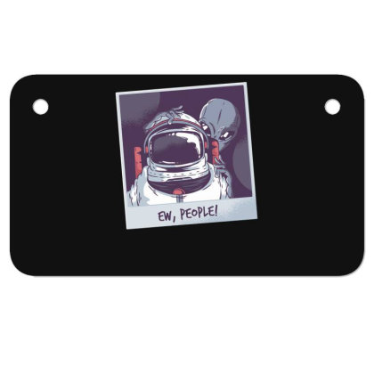 Ew, People! Astronaut Motorcycle License Plate Designed By Dirjaart