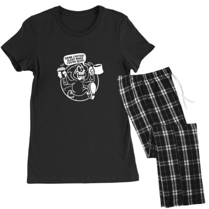 Drink Coffee Women's Pajamas Set Designed By Sr88