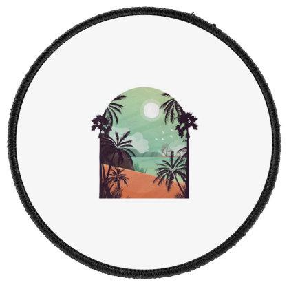Exotic Beach Round Patch Designed By Dirjaart