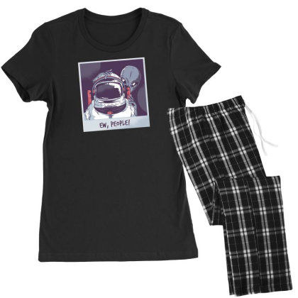 Ew, People! Astronaut Women's Pajamas Set Designed By Dirjaart