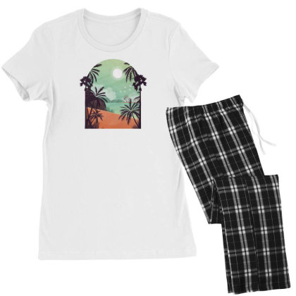 Exotic Beach Women's Pajamas Set Designed By Dirjaart