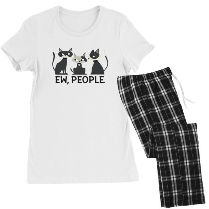 Ew, People Cats Women's Pajamas Set Designed By Dirjaart