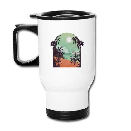 Exotic Beach Travel Mug Designed By Dirjaart