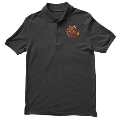 Fire Dragon Men's Polo Shirt Designed By Dirjaart