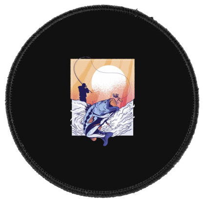 Fisherman Round Patch Designed By Dirjaart