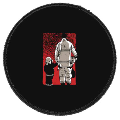 Firefighter Son Round Patch Designed By Dirjaart