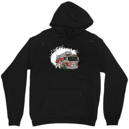 Fireman Truck Unisex Hoodie Designed By Dirjaart