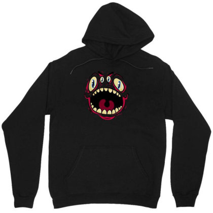 Four Eyed Monster Unisex Hoodie Designed By Dirjaart