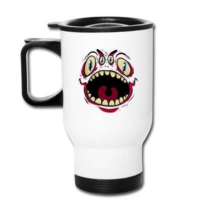 Four Eyed Monster Travel Mug Designed By Dirjaart
