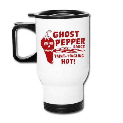 Ghost Pepper Sauce Travel Mug Designed By Buwono