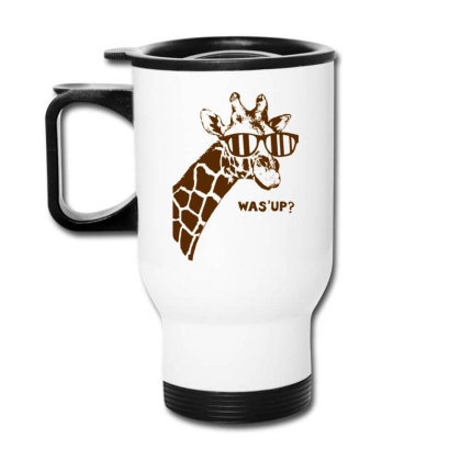 Giraffe Was Up Travel Mug Designed By Buwono