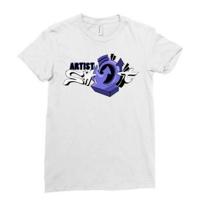 Artist Shot Time Ladies Fitted T-shirt Designed By Mysticalbrain