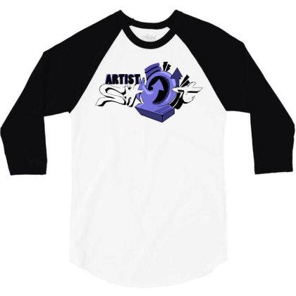 Artist Shot Time 3/4 Sleeve Shirt Designed By Mysticalbrain