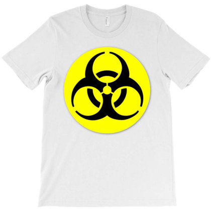 Biological Hazard Hazard Symbol Sign T-shirt Designed By Salmanaz