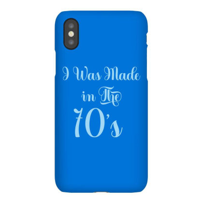 I Was Made In The 70s Iphonex Case Designed By Grafixbychawki