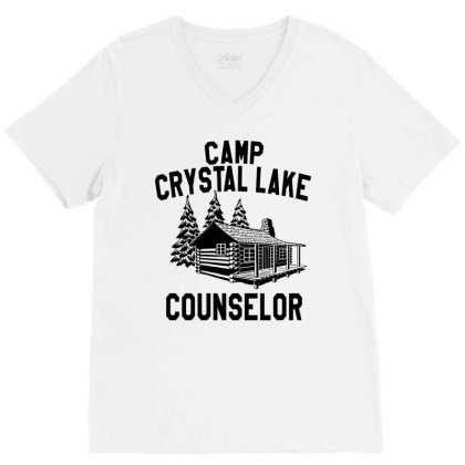 Camp Crystal Lake Counselor V-neck Tee Designed By Green Giant