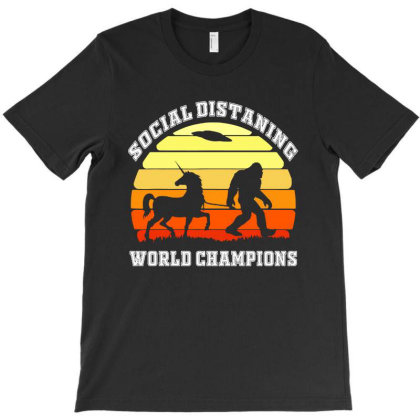 Bigfoot Unicorn Social Distancing World Champions T-shirt Designed By Green Giant
