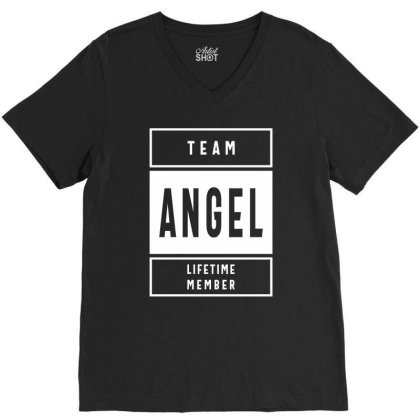 Angel Personalized Name Birthday Gift V-neck Tee Designed By Cidolopez