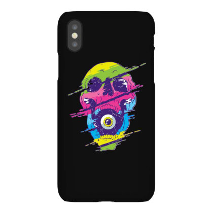 Psychedelic Skull Iphonex Case Designed By Dirjaart