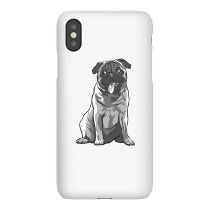 Pug Black And White Iphonex Case Designed By Dirjaart
