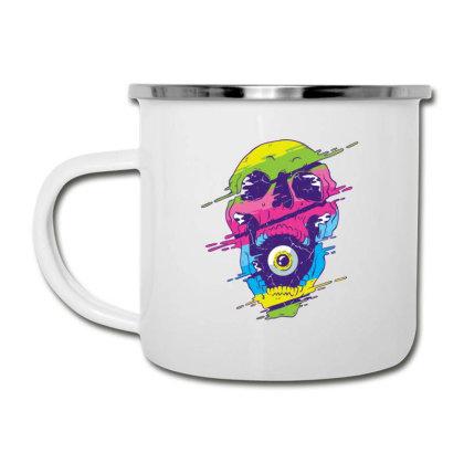 Psychedelic Skull Camper Cup Designed By Dirjaart