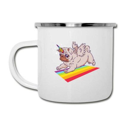 Pug Unicorn Camper Cup Designed By Dirjaart