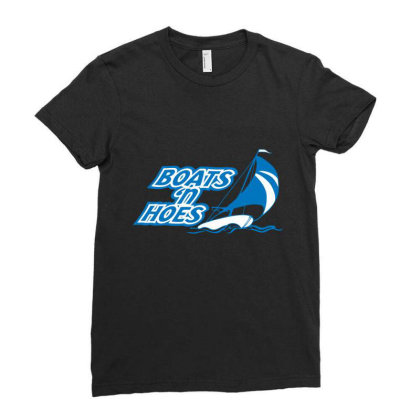 Boats 'n Hoes Ladies Fitted T-shirt Designed By H3lm1