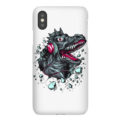 Tyrannosaurus Hoodie Dinosaur Headphones Cartoon Iphonex Case Designed By Salmanaz