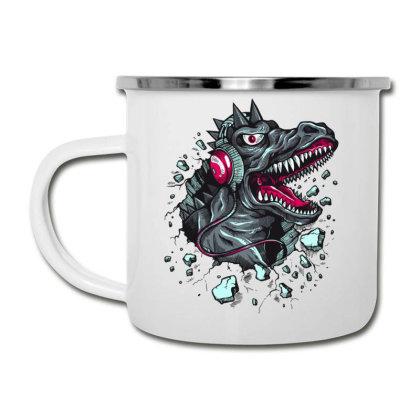 Tyrannosaurus Hoodie Dinosaur Headphones Cartoon Camper Cup Designed By Salmanaz