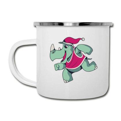 Rhino Christmas Camper Cup Designed By Dirjaart
