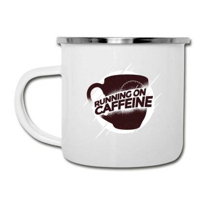 Running On Caffeine Camper Cup Designed By Dirjaart