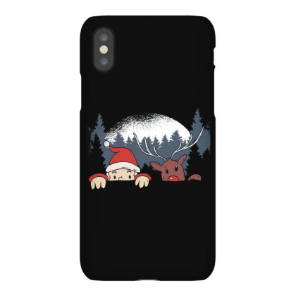 Santa And Reindeer Iphonex Case Designed By Dirjaart