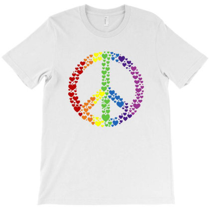 Peace Sign T-shirt Designed By Green Giant