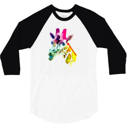 Giraffe Lgbt 3/4 Sleeve Shirt Designed By Gurkan