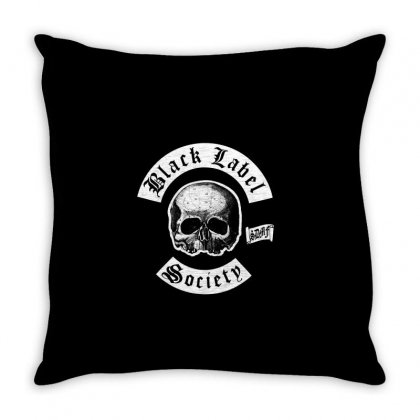 Black Label Society Throw Pillow Designed By Mdk Art